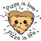 Pizza ist Liebe Pizza ist Leben von Beka Designs