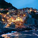 Nighttime View of Manarola, Cinque Terre by Hotaik  Sung