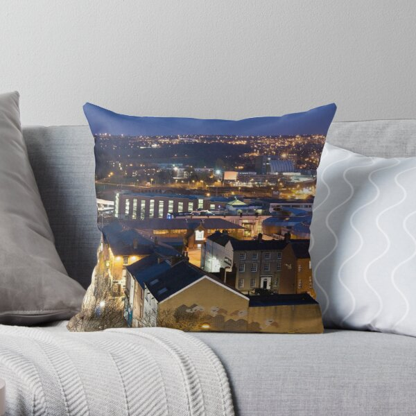 Sheffield at Night Throw Pillow