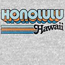 Honolulu, HI | City Stripes by retroready