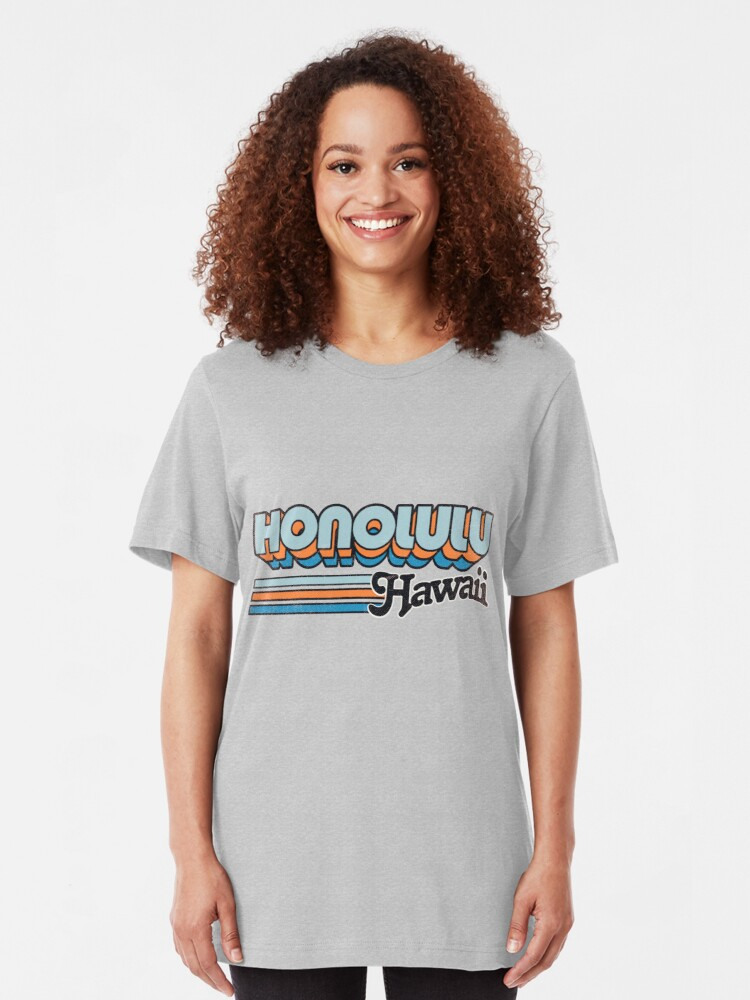 Alternate view of Honolulu, HI | City Stripes Slim Fit T-Shirt