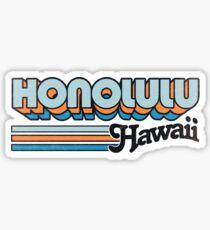 Pegatina Honolulu, HI | Rayas de la ciudad