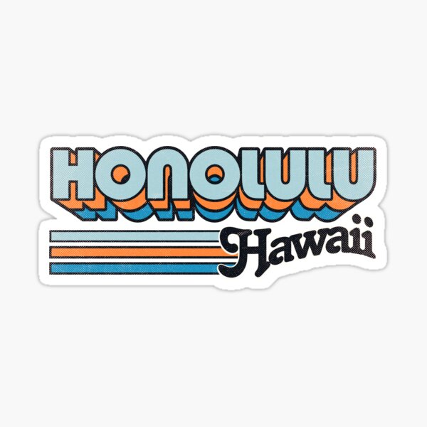 Honolulu, HI | City Stripes Sticker