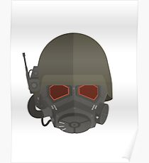 NCR Veteran ranger Helmet Poster