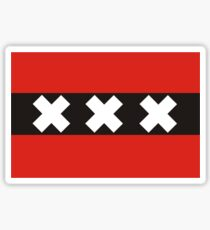 amsterdam flag Sticker