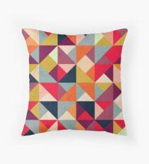 Bright Geometric Happy Pattern Throw Pillow