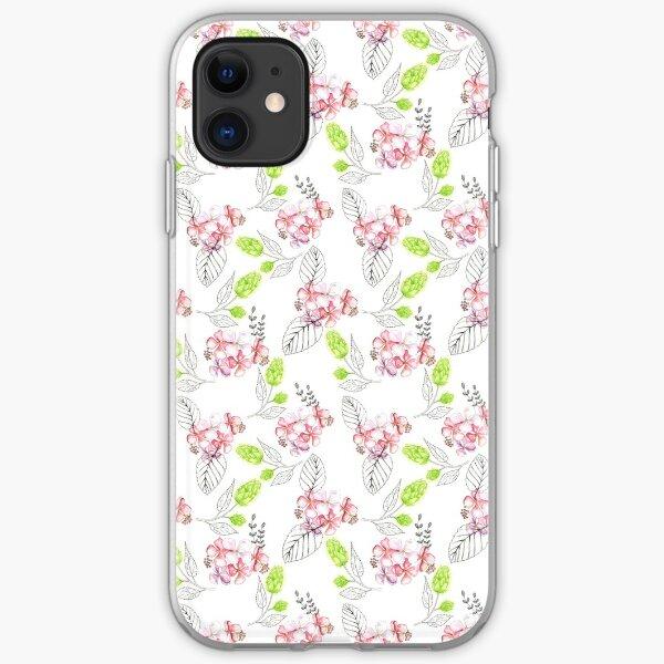 Hydrangea & Noir iPhone Soft Case