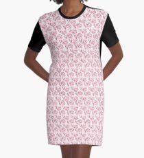 Blooming Hydrangea Graphic T-Shirt Dress