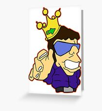 King Cool Greeting Card