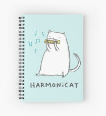 Harmonicat Spiral Notebook