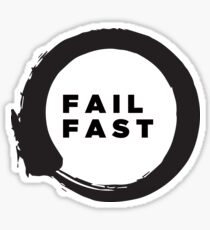 Lean startup - Fail Fast Sticker