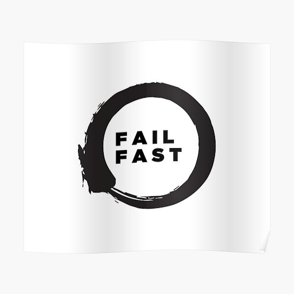 Lean startup - Fail Fast Poster