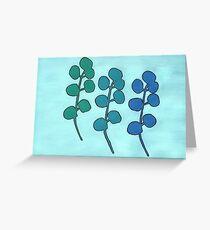 Abstrahierte Pflanzen 3 Greeting Card