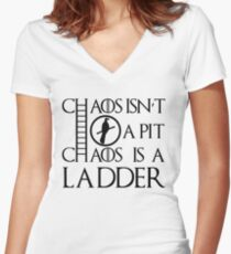 Chaos Ladder Women's Fitted V-Neck T-Shirt