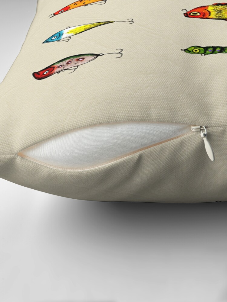 Alternate view of Lures Throw Pillow