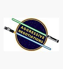 Aggressive Negotiations Photographic Print
