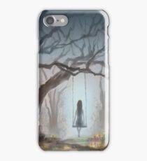Girl On Swing iPhone Case/Skin