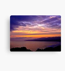 Sunset over the Point Dume , CA Canvas Print