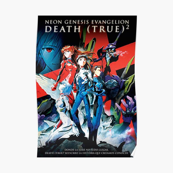 Death and Rebirth Evangelion Poster Poster