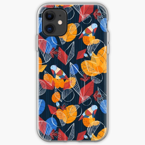 Birds And Leaves iPhone Soft Case
