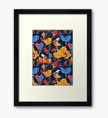 Birds And Leaves Framed Print