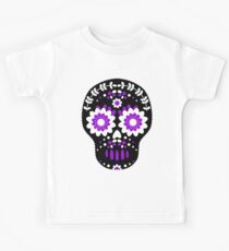 Black and Purple Sugar Skull Kids Clothes