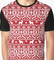 Bichon Frise fair isle christmas red and white minimal holiday gifts dog lovers Graphic T-Shirt