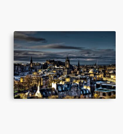 Edinburgh Tiltshift Canvas Print