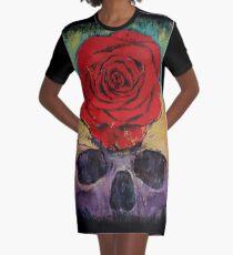 Skull Rose Graphic T-Shirt Dress