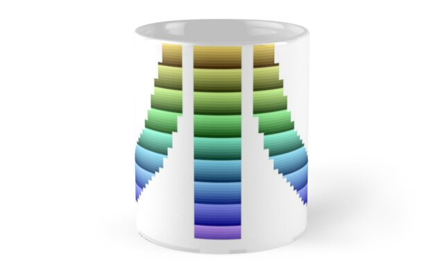 Atari Multi-coloured Screen Logo Mug