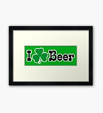I Shamrock Beer Framed Print