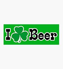 I Shamrock Beer Photographic Print