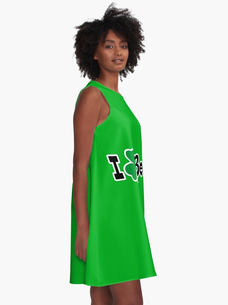 Alternative Ansicht von Ich Shamrock Bier A-Linien Kleid