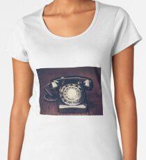 Vintage Rotary Telephone Women's Premium T-Shirt