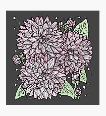 Garden Fresh Floral Illustration Photographic Print