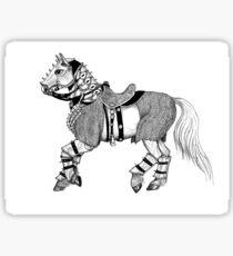 Battle Horse Sticker