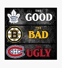 The Good, The Bad, The Ugly -- NHL Version Photographic Print