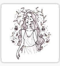 Persephone Greek Mythology Illustration Sticker