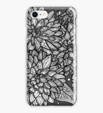 Shades of Grey Floral Study iPhone Case/Skin