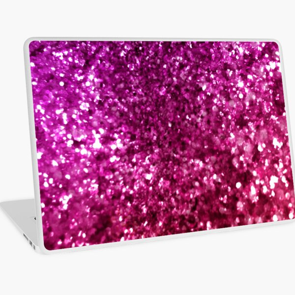 Pretty Pink Glitter Laptop Skin