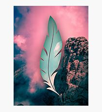 The weight of the mountain Photographic Print