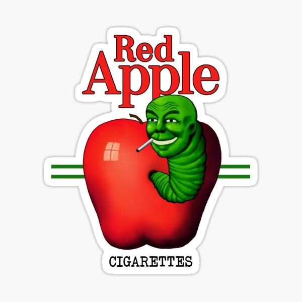 Red Apple Cigarettes Sticker