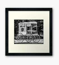 Horse Drawn Ambulance  Framed Print