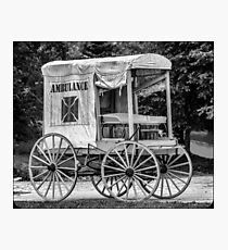 Horse Drawn Ambulance  Photographic Print