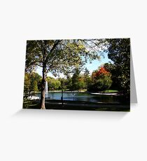 October at Mirror Lake - Ohio State  Greeting Card