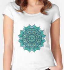 Blue mandala Women's Fitted Scoop T-Shirt
