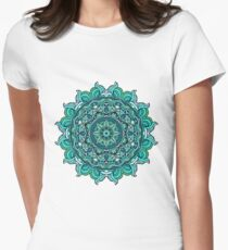 Blue mandala Women's Fitted T-Shirt