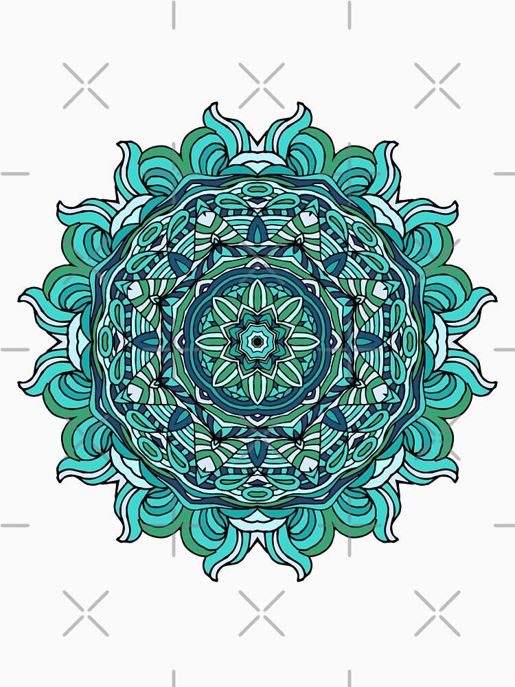 Blauer Mandala von JuliaBadeeva
