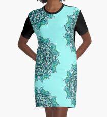 Blue mandala Graphic T-Shirt Dress