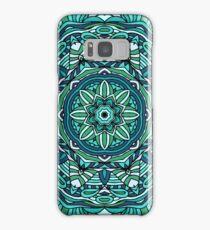 Blue mandala Samsung Galaxy Case/Skin